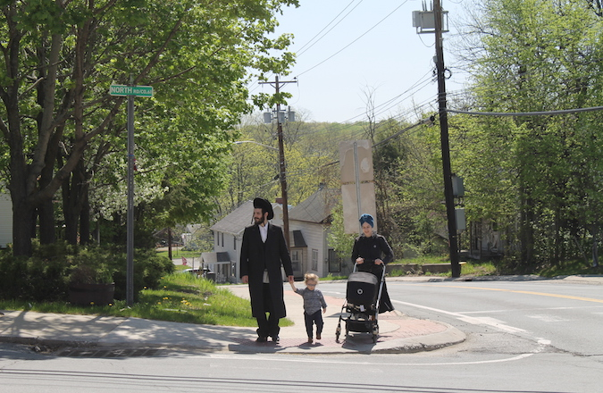 Chaim Friedman moved with his wife and two children to Bloomingburg from Williamsburg, Brooklyn. (JTA/Uriel Heilman)
