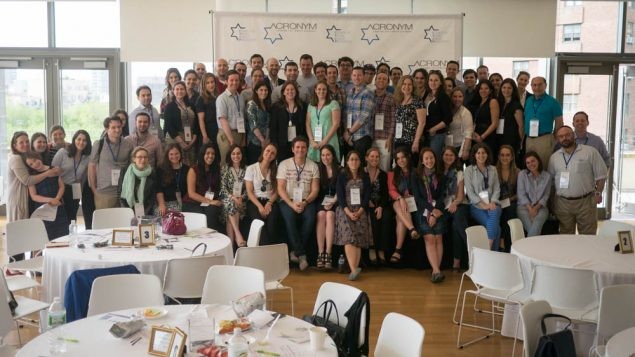 "Lay leaders from Jewish organizations convened on Sunday at ""ACRONYM15 Leading The Jewish Alphabet."" Courtesy of CYJP"
