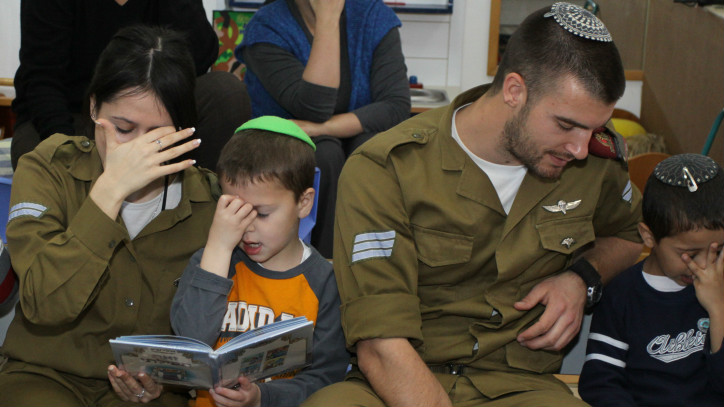 Two potential IDF converts to Judaism at an Orthodox kindergarten (Gershon Elinson)