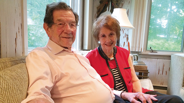 Albert and Ruth Burstein, at home in Tenafly