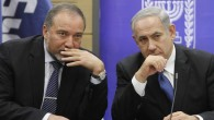 Avigdor Liberman (left) and Benjamin Netanyahu (right) (Yonatan Sindel/Flash90)