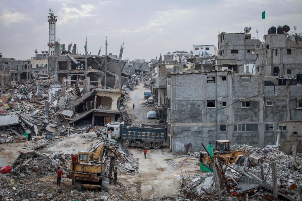 Eastern Gaza City, six months after 2014's Operation Protective Edge (Aaed Tayeh/Flash90)