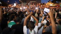 Ethiopian-Israelis protest police brutality and their mistreatment in Israeli society, in Tel Aviv, June 3, 2015. (Flash90)