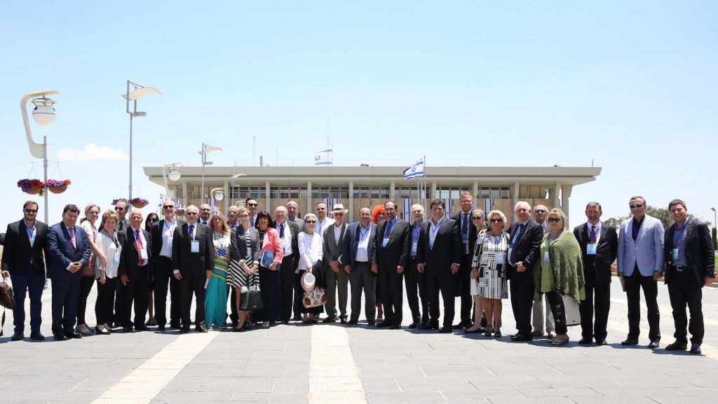 A June 23, 2015 trip to the Knesset was part of the fifth Israeli Jewish Congress (Hakhel) Gathering and Solidarity Mission to Israel of senior European Jewish leaders which brought together 36 delegates from 26 European countries under the banner 'A Time for Action.' (courtesy)