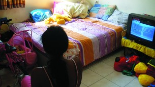 Abused woman and their children can find shelter in the WIZO-supported Mayerhoff Day Care Center in Rehovot.