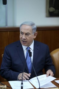 Prime Minister Benjamin Netanyahu leads the weekly cabinet meeting at PM Netanyahu's office in Jerusalem on June 7, 2015. (Amit Shabi/Flash90)