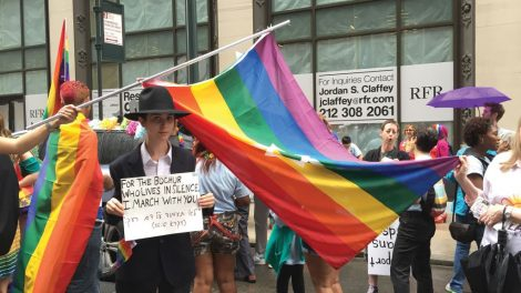 Marchers express pride in their Jewish and LGBT identities. Talia Lakritz/JW