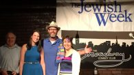 Winner Roy Schaeffer, second place Belinda Boxer, producer Geoff Kole, third place Rena Blech.Courtesy of Broadway Comedy Club