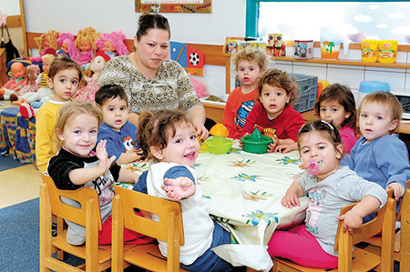 WIZO funds nursery programs for needy families in Israel.