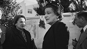 Vera Weizmann, shown here in Israel, worked with friends to found the Women's International Zionist Organization in 1920.