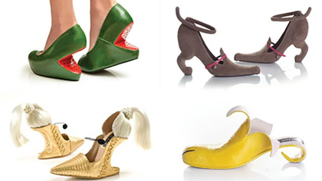"""Soul style: A selection of Kobi Levi's """"fantastical footwear,"""" some of which go for $3,000.  JTA"""