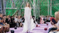 Fourteen-year-old Israeli Sofia Mechetner was the first model on the runway at the Dior Paris Fashion Week show. Via dior.com