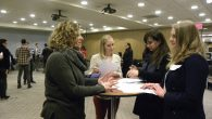 Selected CUNY interns meet at networking event before beginning their summer internships.  Courtesy of UJA-Federation