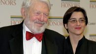 Theodore Bikel, with a guest at the 2012 Kennedy Center Honors event in Washington. Getty Images