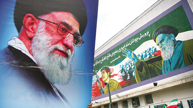 Iran's supreme leader, Ayatollah Ali Khamenei, and AIPAC are seen as the must-convince skeptics for their respective sides in the talks about Iran's nuclear program. Majid Saeedi/Getty Images