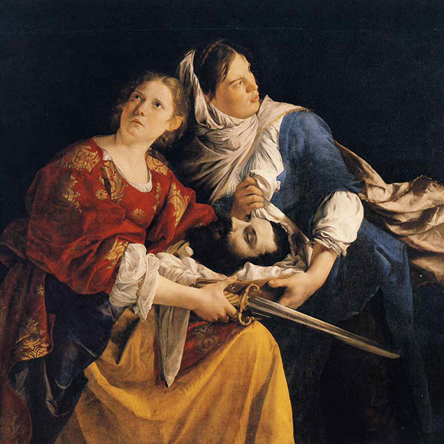 """Orazio Gentileschi's """"Judith and Her Maidservant With the Head of Holofernes,"""" completed in 1624."""