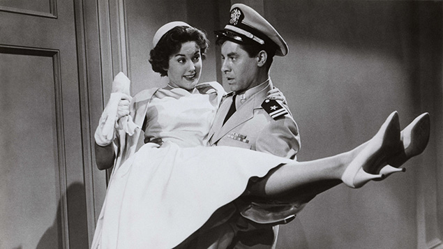 "Jerry Lewis and Diana Spencer in ""Don't Give Up the Ship."""