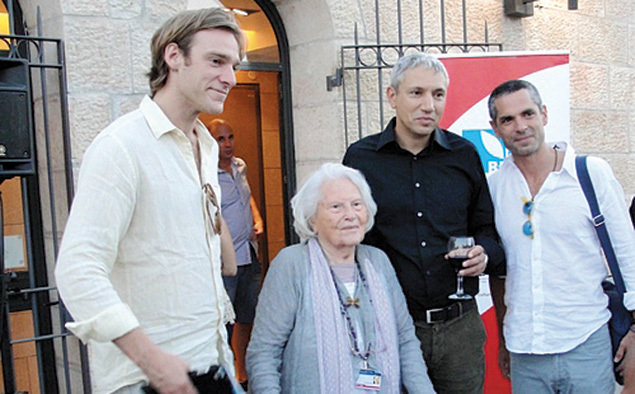 The Jerusalem International Film Festival's founder, the late Lia Van Leer, at the 2012 festival. Van Leer died earlier this year, and the recent 2015 festival featured a tribute to her that attracted hundreds who remembered her persistence in trying to make the Jerusalem Cinematheque open to all. (Judy Lash Balint)