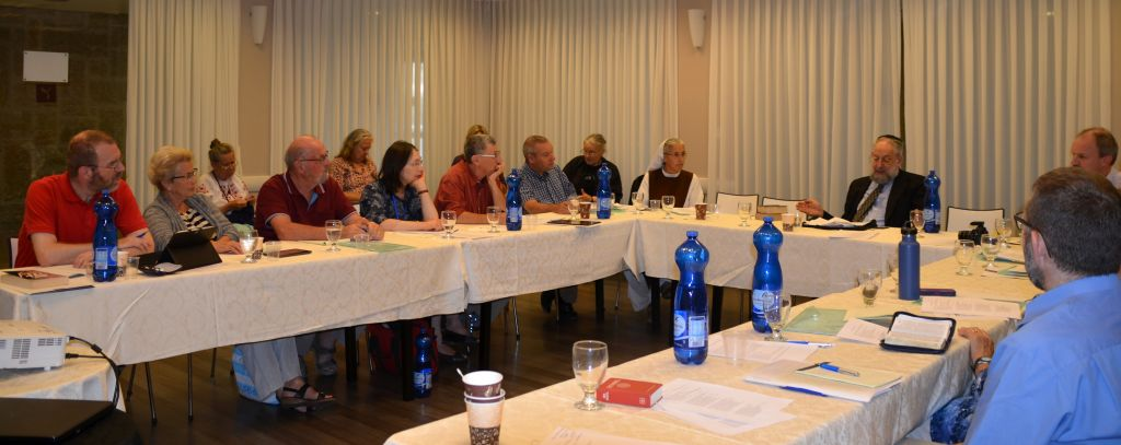 Prof. Lawrence Schiffman teaching a class at the first International Bible Study Week, from July 6-9. 2015. 'We talk so often about the negatives we experiences, we very often don't notice all the good things that are happening.' (Sharon Altshul)