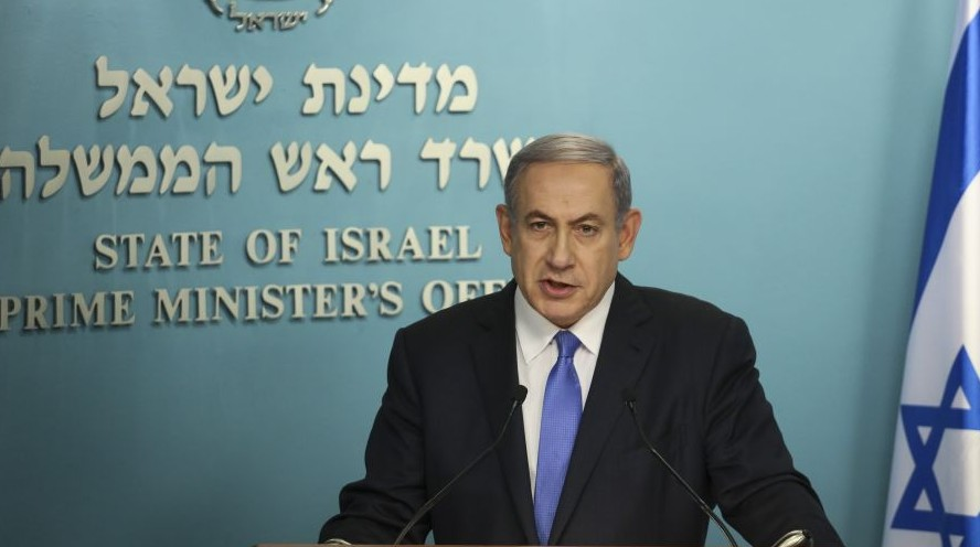 Delivers a statement to the press following the nuclear deal with iran