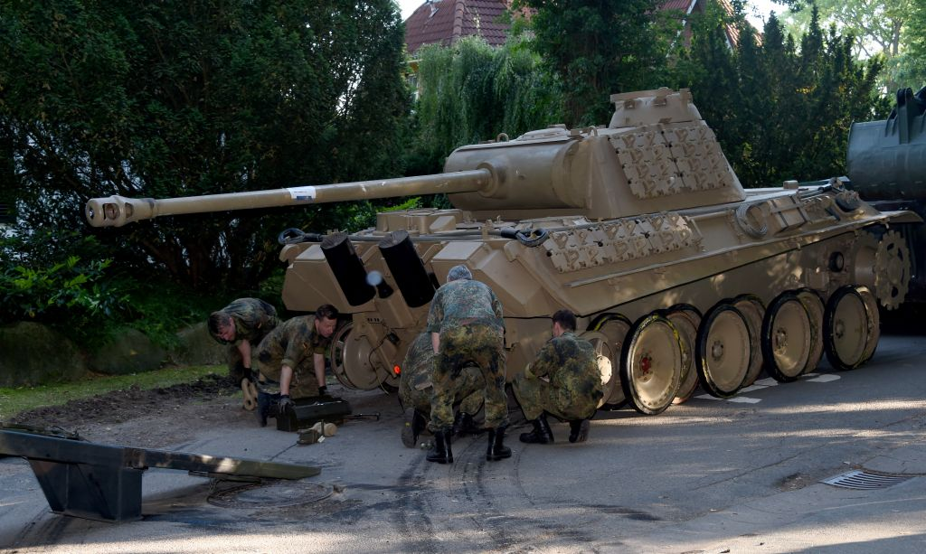 in this july 2 2015 picture a world war ii era panther tank is