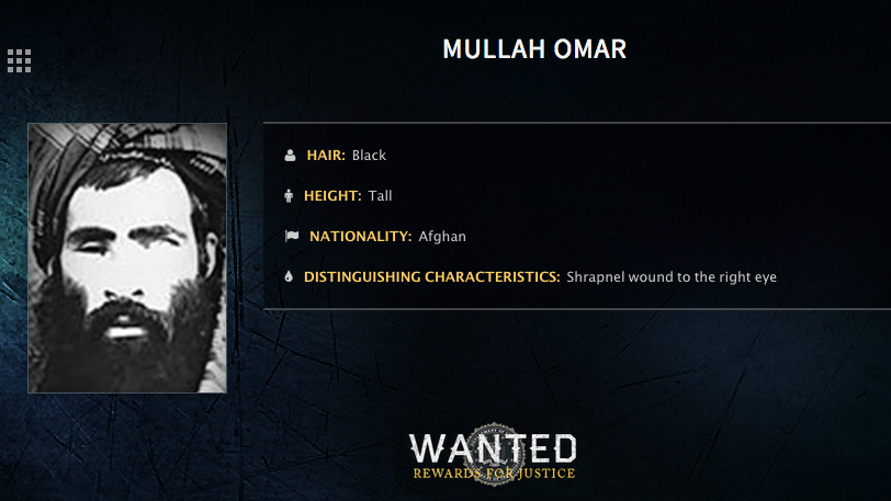In this undated image released by the FBI, Mullah Omar is seen in a wanted poster. (FBI via AP, File)