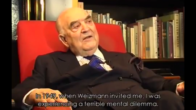 Capture d'écran YouTube : Portrait of Lord Weidenfeld