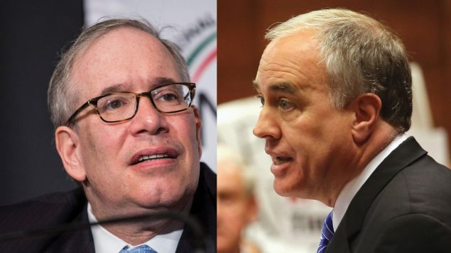 City Comptroller Scott Stringer, left, and State Comptroller Thomas DiNapoli. Getty Images