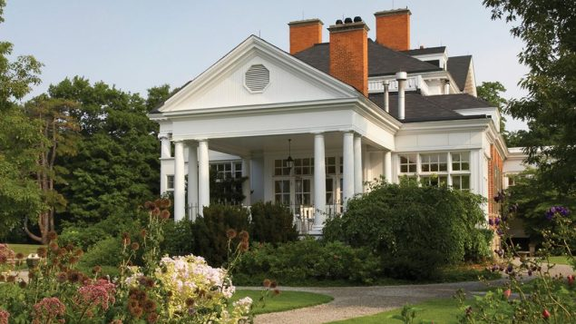 The grounds around the Federal Revival-style Langdon Hall. Courtesy of Langdon Hall