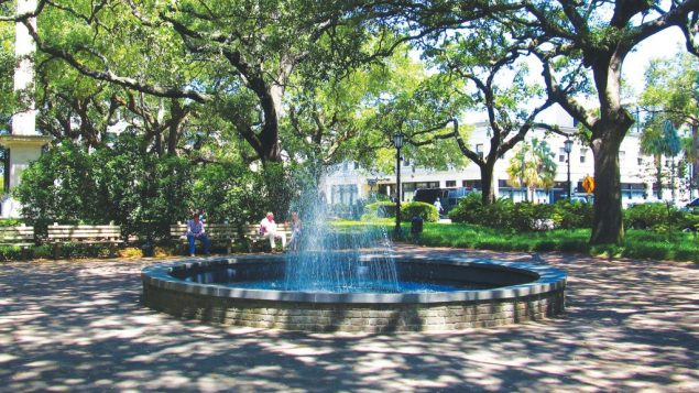 Savannah, with its lyrical, historic-district parks, is perfect for a late-summer visit.  Wikimedia Commons