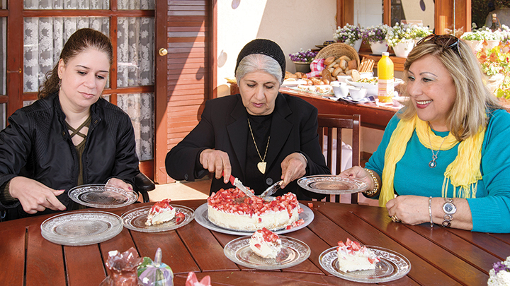 """Bereaved mothers at the launch of OneFamly's cookbook, """"A Taste of Life."""" The party was held at the Jerusalem home of Israel's President Reuven Rivlin."""