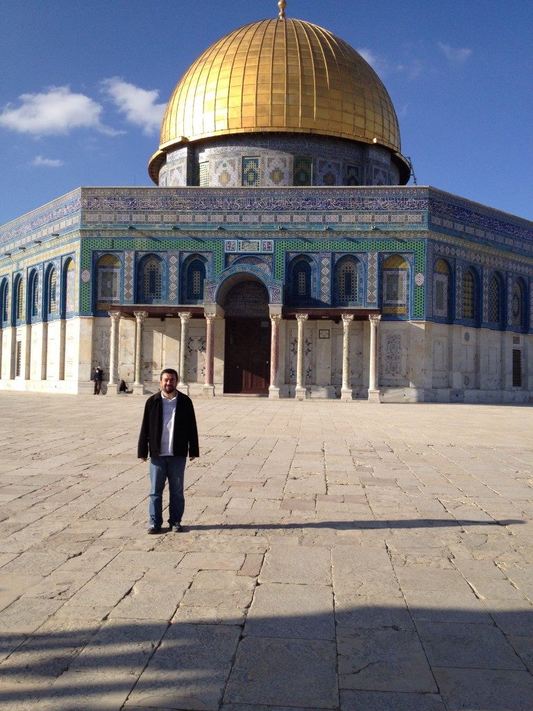 Abdullah Antepli at the Dome of the Rock in 2014  (Courtesy)