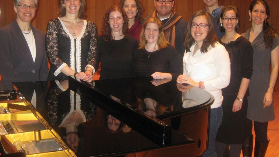 Winners of Hebrew Union College's Jewish entrepreneurialism fellowships. At left is HUC's dean, Rabbi Shirley Idelson.