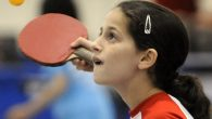 Fifteen-year-old Jewess and ping-pong star, Estee Ackerman. Via jewishhoopsamerica.com