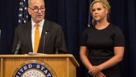 Cousins, Sen. Chuck Schumer and actress Amy Schumer launched a gun control campaign in NYC on Monday. Getty Images