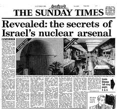 1986 Sunday Times with Vanunu's nuclear revelations