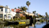 The canals of Venice, CA offer a scenic venue for a colorful look at California's culture. H. Danailova/JW