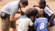 David Gold with children in Tamale