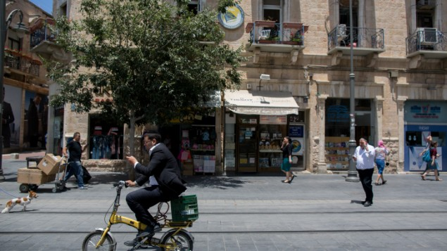 Ultra-Orthodox tell Jerusalem bike sharers to take a hike