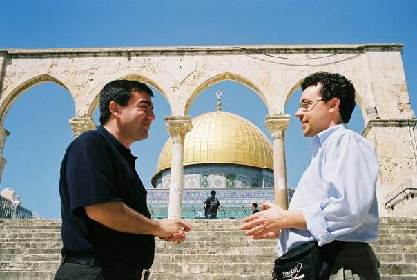 Abdullah Antepli, on his first trip to Jerusalem, with Rabbi David Leipziger (Courtesy)