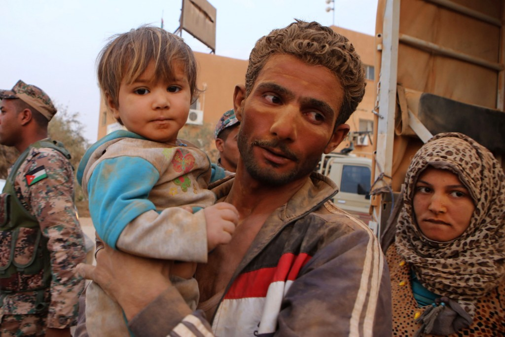 Thousands of Syrian refugees have fled the country, including injured fighters and children.