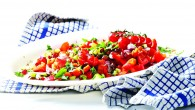 Tomato, cucumber and pomegranate salad 3d