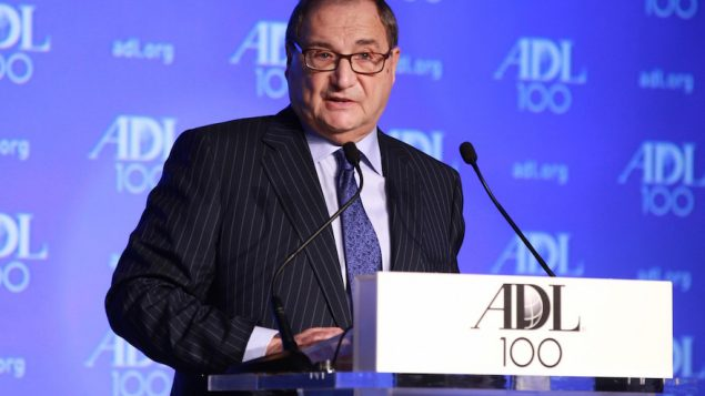 Abraham Foxman, national director of the Anti-Defamation League, speaking at the ADL Centennial Summit in Washington. JTA