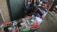 Palestinian mourners carry the body of Riham Dawabsha, whose baby son and husband were killed in the July firebombing. JTA