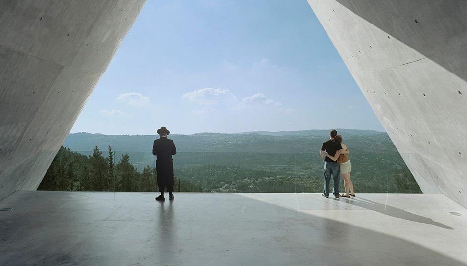 Safdie's Yad Vashem Holocaust Museum looks out over the Jerusalem hills.  Timothy Hursley