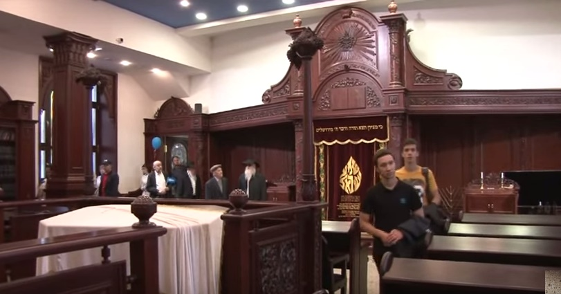 La synagogue de Kazan en Russie (Crédit : Capture d'écran YouTube)