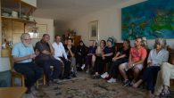 An interfaith group gathered in a private home on Sept. 21, 2015. JTA
