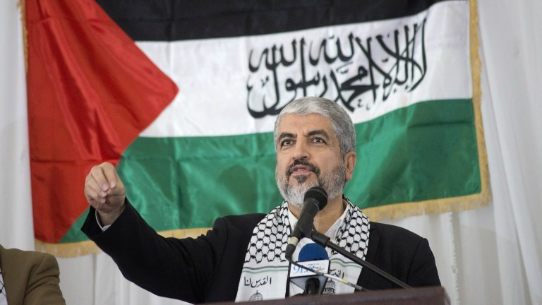 Hamas political leader Khaled Mashaal at a rally in Hamas's honor in Cape Town South Africa