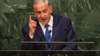 Israel Prime Minister Benjamin Netanyahu speaking last week at the U.N. in a speech that focused on the Iran deal. Getty Images