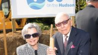 Harold and Elaine Shames, left, at the groundbreaking. Courtesy of JCC on the Hudson